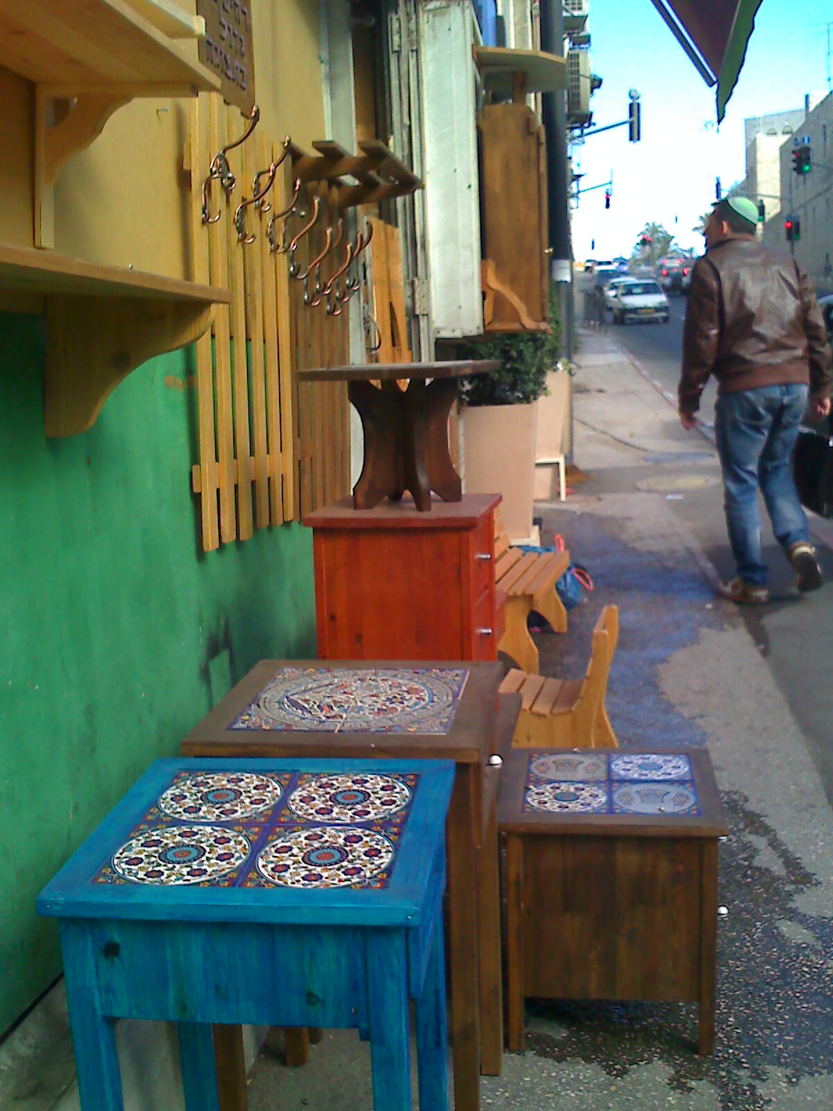 Middle eastern style furniture Ethnic Style Walked Past This Shop With Some Tables For Sale Out Side Around Hillel Street Really Like Middle East Style Furniture That Has Ceramic Tiles On Top Decoist Middle East Furniture Brit In Jerusalem
