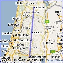 Journeys of Jesus Travelling between Nazareth to Jerusalem Brit
