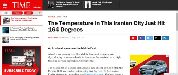 iran heat